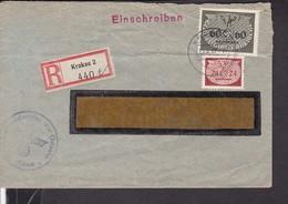 EinschreibBrief Generalgouvernement Stempel Krakau 1941 - Covers & Documents