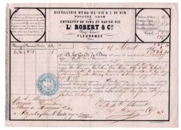 Transport D'une Barrique De Vin Rouge De FLEURANCE, Ls ROBERT & Cie, à SANG De MAGNAN (Cazaubon), Cappin Propriétaire - France