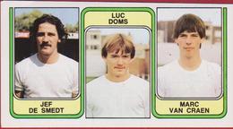 Panini Football 83 Voetbal Belgie 1983 Sticker Nr. 412 Racing Mechelen Jef De Smedt - Luc Doms - Marc Van Craen - Sport