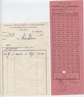 Muret , Haute Garonne, 2 Docs,coopérative De Meunerie Agricole, Marché, Carte De Légumes, Fauré , Proudhom, Avoine, 1956 - Agricultura