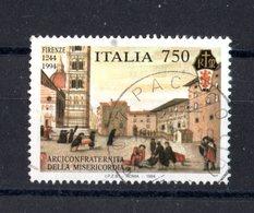 ITALIA -  750° Arciconfraternita Della Misericordia, Firenze - £. 750  USATO -  4.06.1994 - 1991-00: Afgestempeld