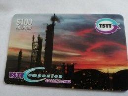 TRINIDAD & TOBAGO  $ 100,- OIL REFINERY  P9    Prepaid Fine Used Card  ** 1785** - Trinité & Tobago