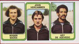 Panini Football 83 Voetbal Belgie 1983 Sticker Nr. 420 SV Oudenaarde Roger Sackx - John Vercammen - Ary De Azevedo - Sport