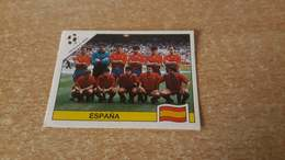 Figurina Panini WM Italia 90 - 347 Team Spagna - Panini