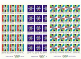 Zumstein 773-775 / Michel 834-835 Bogen-Serie Einwandfrei Postfrisch/** - Blocks & Kleinbögen