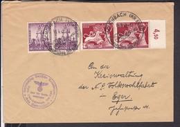 Brief Deutsches Reich Stempel Schönbach  1942 , NSDAP Amt Für Volkswohlfahrt - Germany