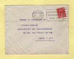 Flier - Paris XVII - Avenue Wagram - Exposition Coloniale Paris 1931 - Marcophilie (Lettres)