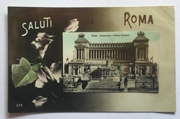 SALUTI DA ROMA - VIAGGIATA 1912 FP - Autres