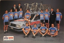 Postcard Gewiss-Bianchi (large Teamcard) - 1989 (16 X 24 Cm) - Ciclismo