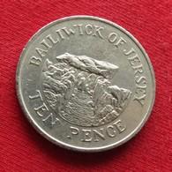 Jersey 10 Pence 1985 KM# 57.1 *V1 - Jersey