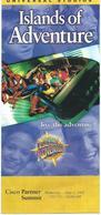 TOURIST BROCHURES 10 Cm X 23 Cm.Islands Of Adventure,Orlando,U.S.2002 ,map - 27 Cm / 22 Cm - Folletos Turísticos