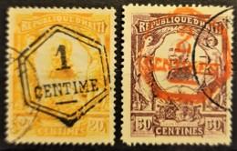 HAITI 1906 - Canceled - Sc# 108, 109 - 1c 2c - Haiti