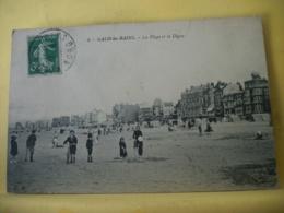 59 7073 CPA 1913 - AUTRE VUE DIFFERENTE N° 2 - 59 MALO LES BAINS. LA PLAGE ET LA DIGUE - ANIMATION. - Malo Les Bains