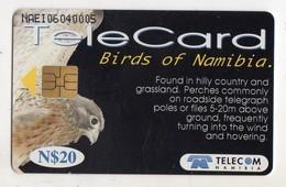 NAMIBIE REF MV CARDS NMB-84 N$20 OISEAU ROCK  KESTREL DATE 1999 - Namibië
