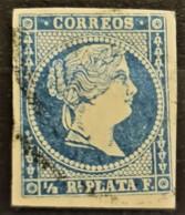 CUBA 1857 - Canceled - Sc# 12 - 1/2r - Cuba (1874-1898)
