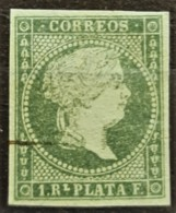 CUBA 1857 - Canceled - Sc# 13 - 1r - Cuba (1874-1898)