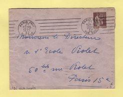 Flier - Paris XVIII - Rue Duc - 6 Lignes Droites Inegales - 1937 - Marcophilie (Lettres)