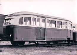Chemin De Fer Français, Ligne Blanc-Argent - Le Blanc 36, Autorail De Dion à Romorantin, Photo 1954 BVA BA 612.7 - Trenes