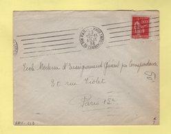 RBV - Paris XVIII - Rue De Clignancourt - 6 Lignes Droites Inegales - Marcophilie (Lettres)