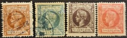 PUERTO RICO 1898 - Canceled/MLH - Sc# 135, 141, 142, 144 - Puerto Rico