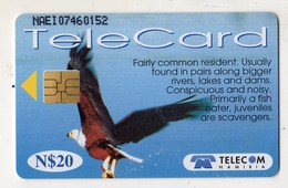 NAMIBIE REF MV CARDS NMB-88 N$20 OISEAU AFRICAN FISH EAGLE DATE 1999 - Namibië