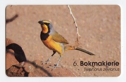 NAMIBIE REF MV CARDS NMB-89 N$20 OISEAU BOKMAKIERIE DATE 1999 - Namibië