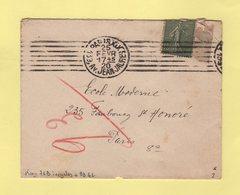 Flier - Paris XIX - 139 Av Jean Jaures - 7 Lignes Droites Inegales - 1920 - Marcophilie (Lettres)