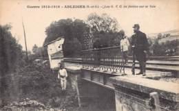 95 - Val D'Oise - 10038 - ABLEIGES - Guerre 1914-1916 Voie Ferrée - Francia