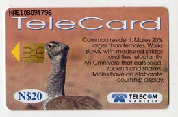 NAMIBIE REF MV CARDS NMB-90 N$20 OISEAU KORI BUSTARD - Namibie