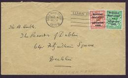 Ireland 1922 Thom Rialtas Overprint Halfpenny, Three Halfpence Used On Cover Dublin - 1922 Provisional Government