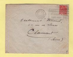 Flier - Paris XIX - Av Jean Jaures - Exposition Coloniale Internationale Paris 1931 - Marcophilie (Lettres)