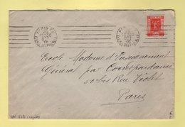 Flier - Paris XX - 248 Rue Des Pyrenees - 6 Lignes Droites Inegales - Marcophilie (Lettres)