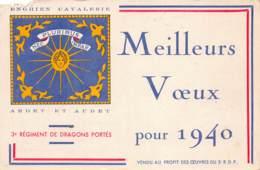 95 - Val D'Oise - 10128 - ENGHIEN - Carte Voeux  Militaire R.D.P - ARDET ET AUDET - Défaut - Enghien Les Bains