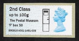 GB Post & Go - Postal Museum F Type Postbox Overprint - 2nd Class / 100g - MA15 Date Code MNH - Grossbritannien