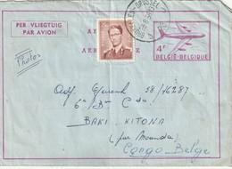 Aérogramme De Bruxelles Vers Baki-Kitona ( Congo Belge ) - Entiers Postaux