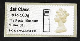 GB Post & Go - Postal Museum F Type Postbox Overprint - 1st Class / 100g - MA14 Date Code MNH - Grossbritannien