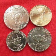 Uganda Set 4 — 50 100 200 500 Shilling 2015 Ouganda UNC - Oeganda