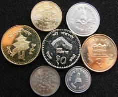 Nepal  Set 7 10 P - 10 Rupees UNC - Nepal