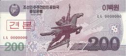 COREE DU NORD 200 WON 2008 UNC P 62 S - Corea Del Nord