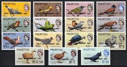 1967 Mauritius Self Government Overprint On Birds Definitives Set (** / MNH / UMM) - Unclassified