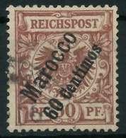 DEUTSCHE AUSLANDSPOSTÄMTER MAROKKO Nr 6 Gestempelt X0945A6 - Deutsche Post In Marokko