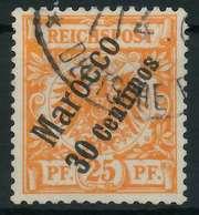 DEUTSCHE AUSLANDSPOSTÄMTER MAROKKO Nr 5a Gestempelt X0945B2 - Deutsche Post In Marokko