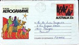 AEROGRAMME AUSTRALIE 1980 - LES TROIS ROIS MAGES - - Kerstmis