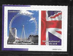 Great Britain - Universal Mail UK Postcard Stamp - London Eye - MNH - Universal Mail Stamps