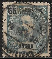 Angra – 1898 King Carlos 65 Réis With Praia Da Vitória Cancel - Angra