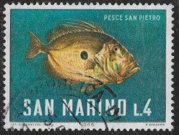 San Marino SG807 1966 Sea Life 4l Good/fine Used [40/33162/7D] - Oblitérés