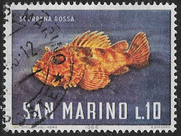 San Marino SG809 1966 Sea Life 10l Good/fine Used [40/33163/7D] - San Marino