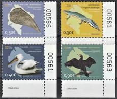 2011 Montenegro Wildlife: Pelican, Cormorant, Pen Shell, Alpine Newt Set (** / MNH / UMM) - Birds
