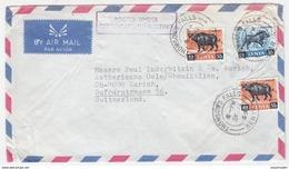 "KES14601 Kenya 1969 Airmail Cover Franking Animals - Posed Under ""Certificate Of Posting"" Addressed Suisse - Kenya (1963-...)"