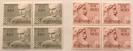 """POR#3570-Set Of 2 Blocks Of 4 MNH Stamps - """"Escultores Portugueses"""" - Portugal - 1971 - Blocs-feuillets"""